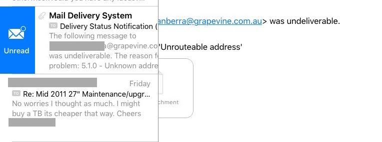 unread icon in apple mail