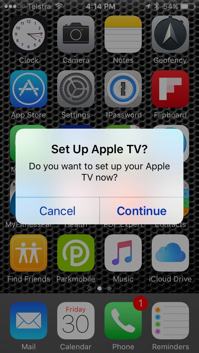 set up apple tv with iPhone