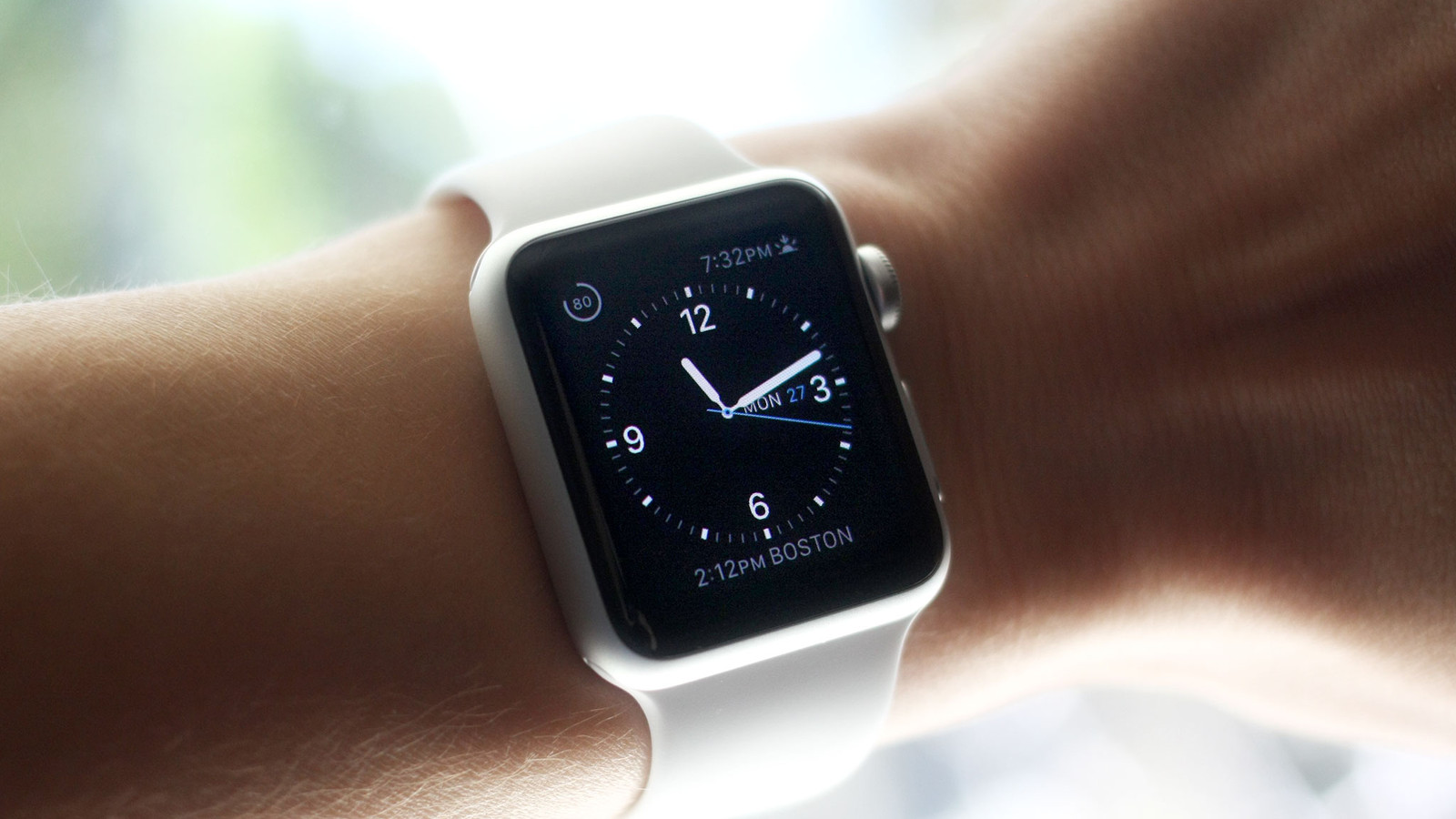 Apple watch silver band
