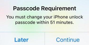 iPhone warning